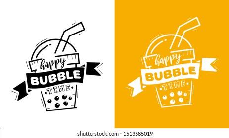 bubble tea logo images stock photos vectors shutterstock https www shutterstock com image vector bubble milk tea logo boba brand 1513585019