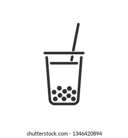 Bubble Milk Tea. Vector icon
