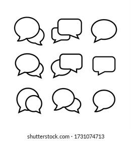 Bubble set icon vector illustration. Chat, dialog, conversation icon symbol