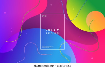 Bubble shapes composition. Creative wallpaper. Trendy gradient colors. Eps10 vector.