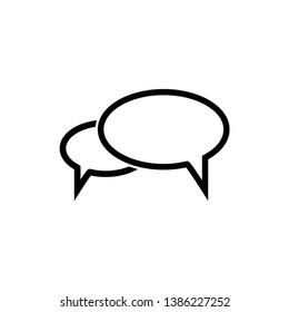 bubble speak icon vector trendy flat style