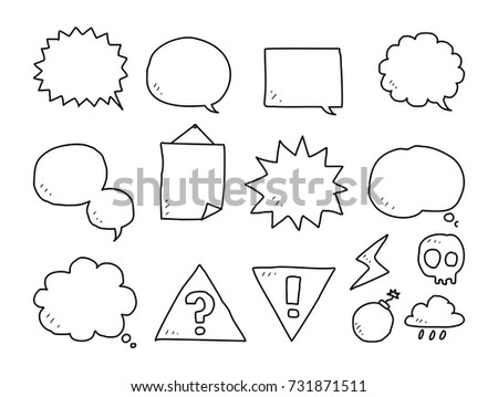 Bubble Speech Doodle Stock Vector Royalty Free 731871511