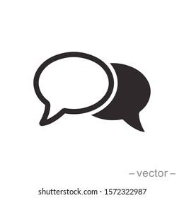 Bubble speech icon design trendy