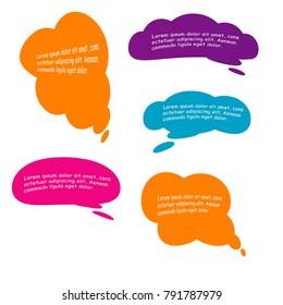 bubble speech quote box template illustration vector