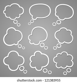 Bubble for speech set