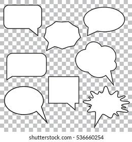 bubble speech set