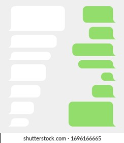 Bubble speech set, sms or message template