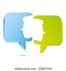 bubble speech, talk concept