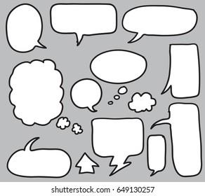 bubble talk vector set