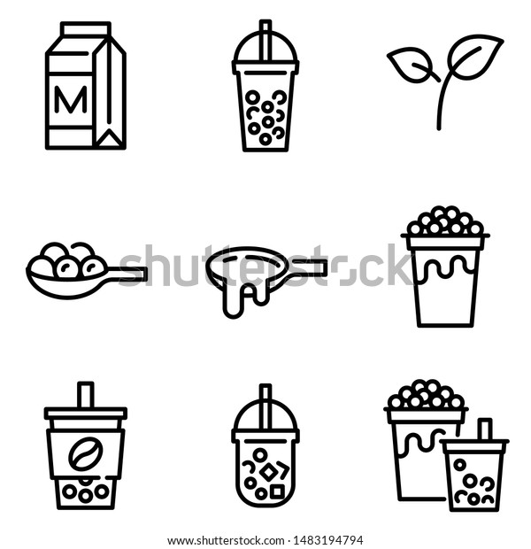 bubble tea pearl milk tea related stock vector royalty free 1483194794 https www shutterstock com image vector bubble tea pearl milk related line 1483194794