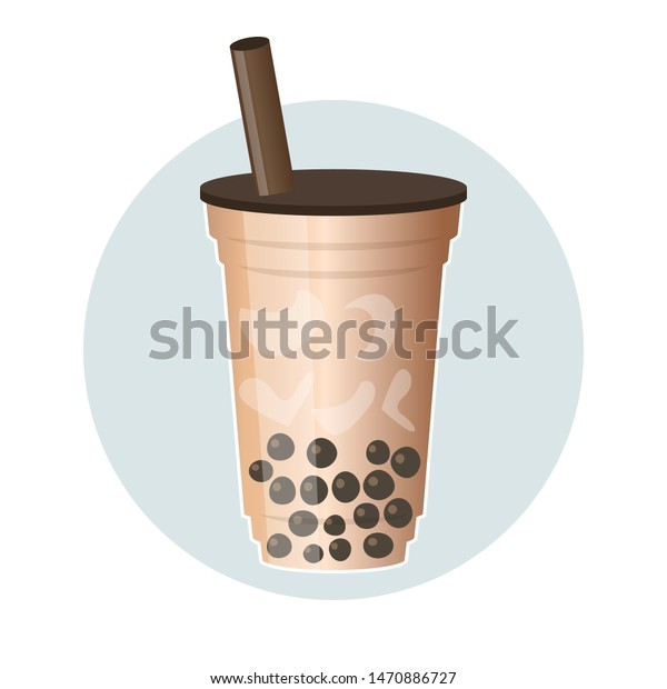 bubble tea pearl milk tea vector stock vector royalty free 1470886727 https www shutterstock com image vector bubble tea pearl milk vector illustration 1470886727
