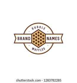 bubble waffle logo design