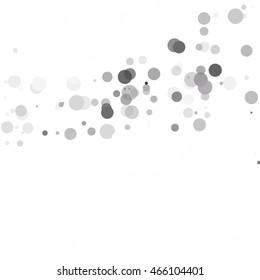 Bubbles Circle Dots Unique Black Bright Vector Background
