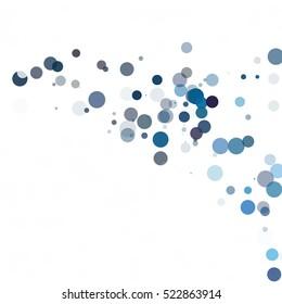 Bubbles Circle Dots Unique Blue Bright Vector Background