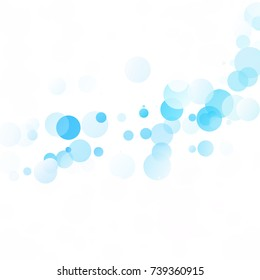 Bubbles Circle Dots Unique Blue Bright Vector Background