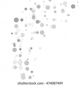 Bubbles Circle Dots Unique Gray White Bright Vector Background