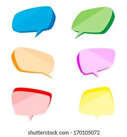 Bubbles color set, vector illustration