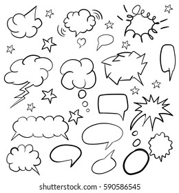 bubbles. Hand drawing. Saying. For your design.