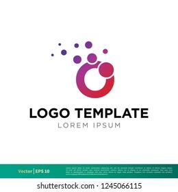 bubbles Icon Vector Logo Template