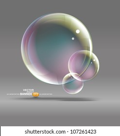 bubbles on a gray background