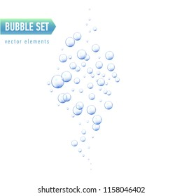 Bubbles under water vector illustration on white background