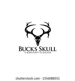 Buck Skull Logo Great for any related Company theme.