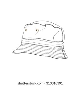 Bucket Hat Vector Fashion Accessory