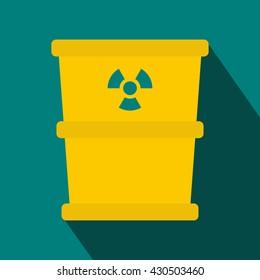 Bucket for hazardous waste icon