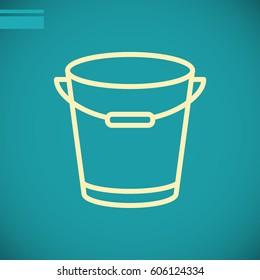 bucket icon flat.