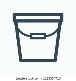 Bucket icon, pail vector icon