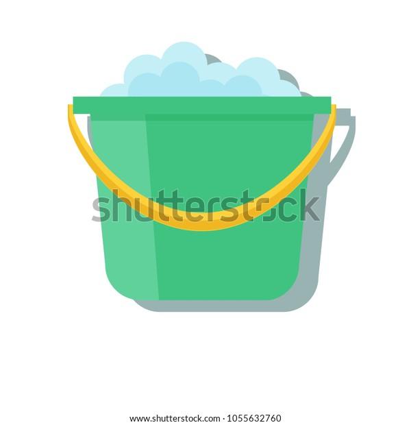 Bucket Icon Vector Cartoon App Web Stock Vector Royalty Free 1055632760
