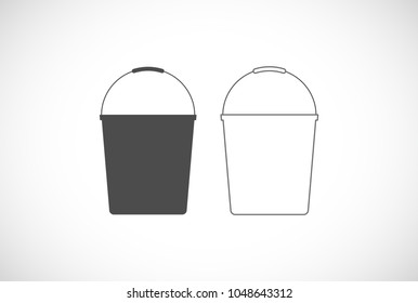 bucket outline icon