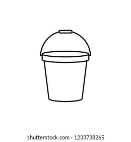 Bucket outline icon. linear style sign for mobile concept and web design.