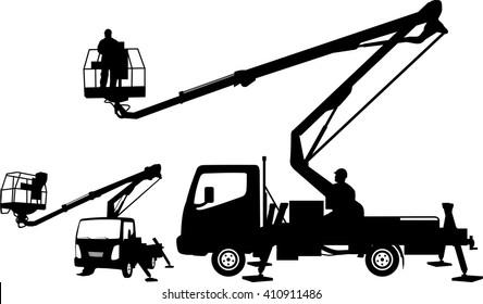 bucket truck, cherry picker mobile lift