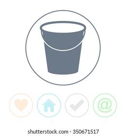 Bucket vector icon.