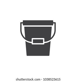 Bucket vector icon. filled flat sign for mobile concept and web design. Pail simple solid icon. Symbol, logo illustration. Pixel perfect vector graphics