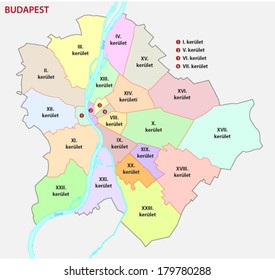 budapest administrative map