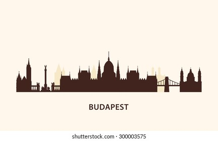 Budapest skyline silhouette