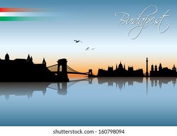Budapest skyline - vector illustration
