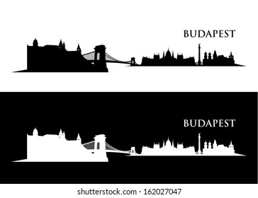 Budapest skyline - vector illustration