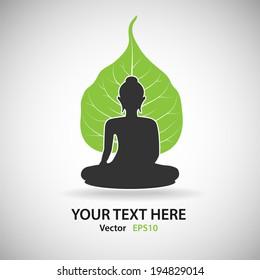 Buddha with Bodhi - Vector