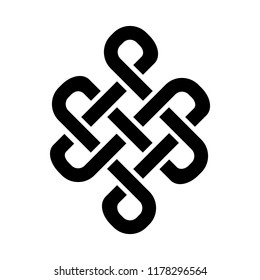 «Guts of Buddha / The bowels of Buddha» (The Endless knot, or Eternal knot, happiness node) — symbol of inseparability and dependent origination of existence and all phenomena in Universe.