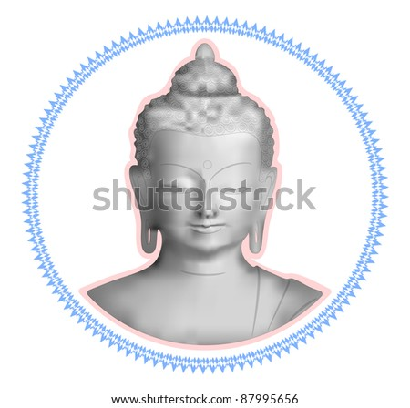 Buddha Curly Frame Stock Vector (Royalty Free) 87995656 - Shutterstock