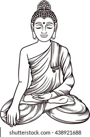 Buddha Coloring Page Images Stock Photos Vectors