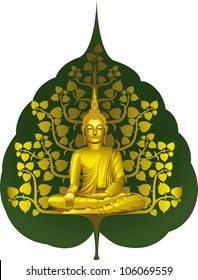 buddha with gold tree