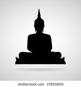Buddha icon great for any use. Vector EPS10.