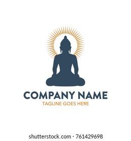 buddha illustration logo. editable. vector