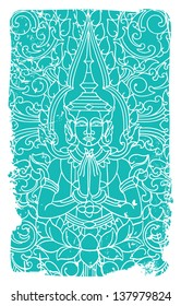 Buddha ornate vector illustration
