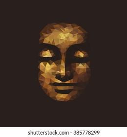 Buddha. polygonal graphics. vector illustration