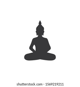 Buddha silhouette vector,icon on a white background